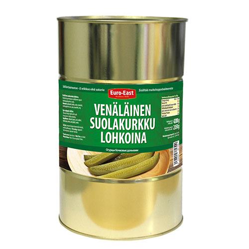 Venäläinen suolakurkku lohkoina 4200 g