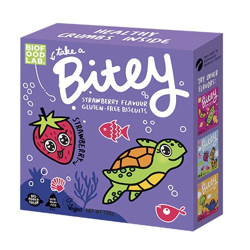Bitey-biscuit, strawberry