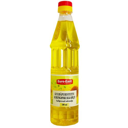 Cold pressed sunflower oil 0.5 L