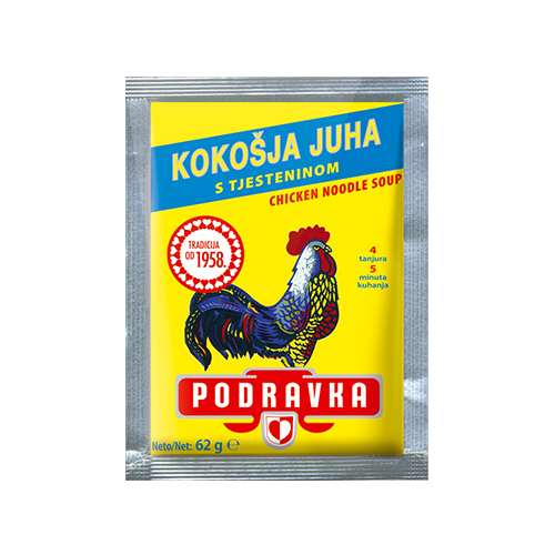 Podravka Chicken noodle soup, ingredients 62g